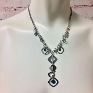 Lia Sophia Silver Tone Dangle Drop Necklace
